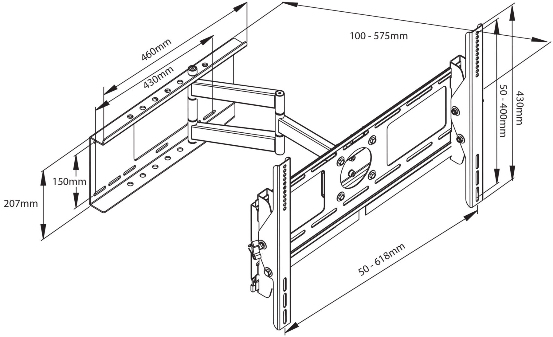 cantilever wall bracket for lcd  plasma screens 26 u0026quot